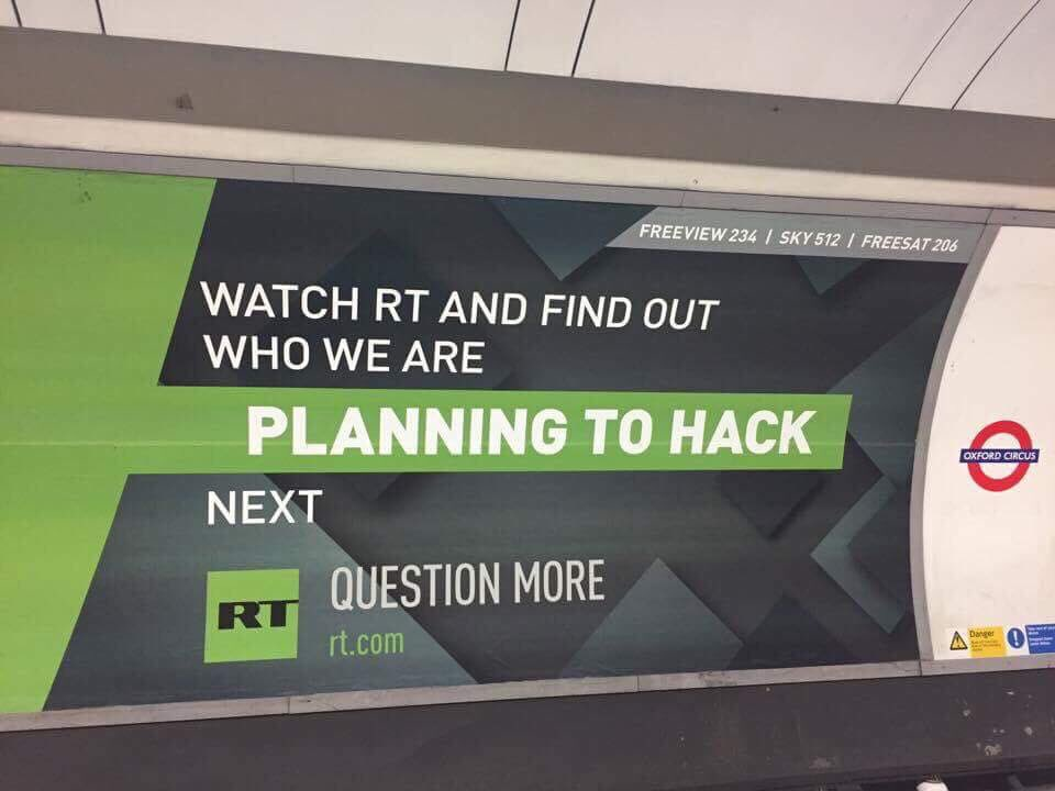 Russia Today London Underground Advert | Trendjackers