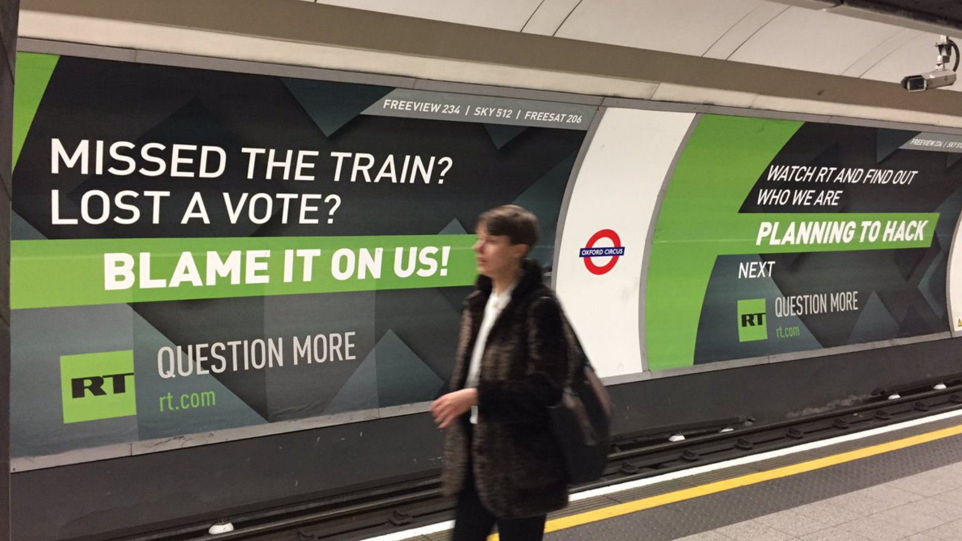 Russia Today Advertising on London Tube | Trendjackers