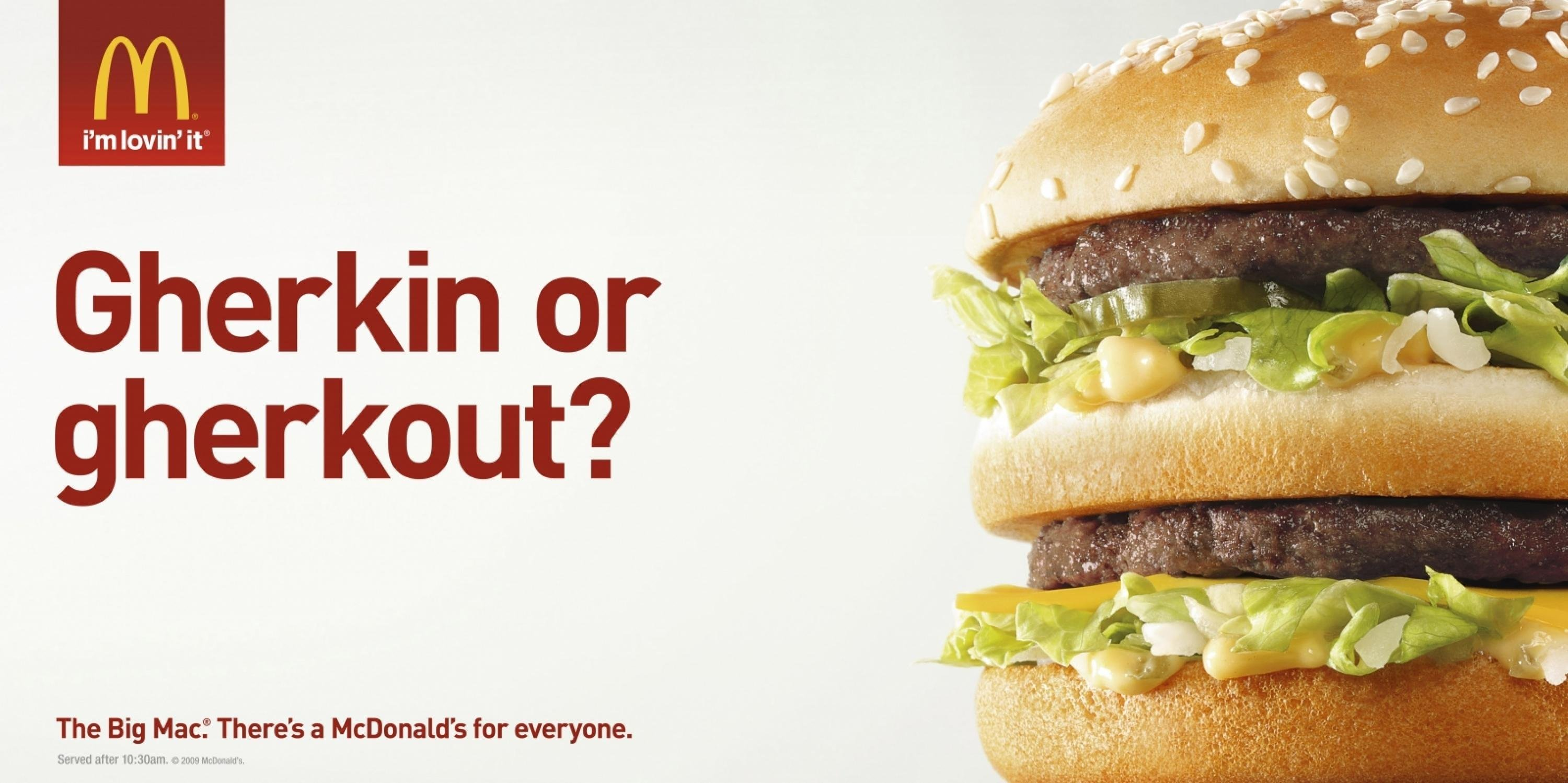 McDonald's Advertising Copywriting